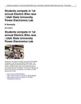 Students Compete in 1st Annual Electric Bike Race | Utah State University Power Electronics Lab