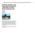 Students Compete in 2nd Annual Electric Bike Race | Utah State University Power Electronics Lab