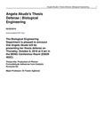 Angela Akude's Thesis Defense | Biological Engineering