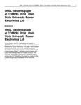 UPEL Presents Paper at COMPEL 2014 | Utah State University Power Electronics Lab