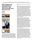 UPEL Students and Faculty Present at ECCE 2016   Utah State University Power Electronics Lab