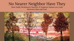 No Nearer Neighbor Have They: How Emily Dickinson's Fascicle 37 Explores Nature as a Link Between Man and God