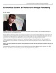 Economics Student a Finalist for Carnegie Fellowship