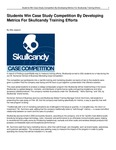Students Win Case Study Competition By Developing Metrics For Skullcandy Training Efforts
