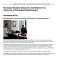 Huntsman Student Chosen to Job-Shadow U.S. Chairman of PricewaterhouseCoopers
