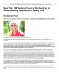 More Than 100 Students Travel to Six Countries on Global Learning Experiences in Spring 2013