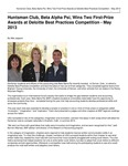 Huntsman Club, Beta Alpha Psi, Wins Two First-Prize Awards at Deloitte Best Practices Competition