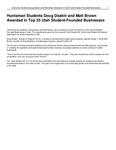 Huntsman Students Doug Deakin and Matt Brown Awarded in Top 25 Utah Student-Founded Businesses