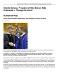 Charlie Denson, President of Nike Brand, Asks Graduates to Change the World