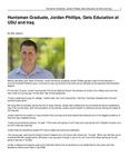 Huntsman Graduate, Jordan Phillips, Gets Education at USU and Iraq