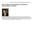 Wes Yeomans Named to School of Accountancy Advisory Board