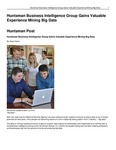 Huntsman Business Intelligence Group Gains Valuable Experience Mining Big Data