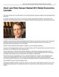 Alum Lars Peter Hansen Named 2013 Nobel Economics Laureate