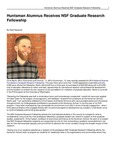 Huntsman Alumnus Receives NSF Graduate Research Fellowship