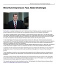 Minority Entrepreneurs Face Added Challenges by USU Jon M. Huntsman School of Business