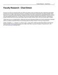 Faculty Research - Chad Simon by USU Jon M. Huntsman School of Business