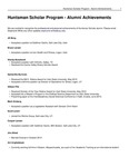 Huntsman Scholar Program - Alumni Achievements by USU Jon M. Huntsman School of Business