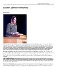 Leaders Define Themselves by USU Jon M. Huntsman School of Business