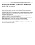 Huntsman Students Win Top Honors at PBL National Leadership Conference