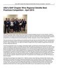 USU's BAP Chapter Wins Regional Deloitte Best Practices Competition - April 2015