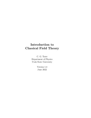 Introduction to Classical Field Theory