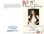 Senior Recital- Rebecca Soelberg by Rebecca Soelberg