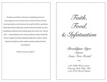 Senior Recital-Brooklyn Dyer: Faith, Food, & Infatuation by Brooklyn Dyer