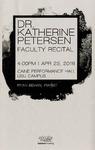 Faculty Recital - Dr. Katherine Petersen