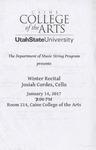 Winter Recital: Josiah Cordes, Cello