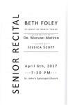 Senior Recital - Beth Foley