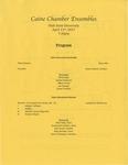 Caine Chamber Ensembles by Caine Percussion Ensemble, Caine Woodwind Quintet, Caine Brass Quintet, Caine String Quartet, and Caine Saxophone Quartet