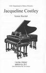 Senior Recital - Jacqueline Costley by Jacqueline Costley