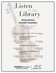 Listen in the Library: String Division Chamber Ensembles