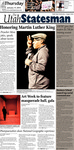 The Utah Statesman, January 17, 2013