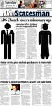 The Utah Statesman, October 9, 2012