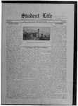 Student Life, September 27, 1912, Vol. 11, No. 1