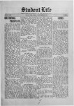 Student Life, September 25, 1914, Vol. 13, No. 1