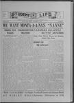 Student Life, November 5, 1915, Vol. 14, No. 7