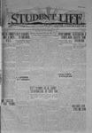 Student Life, September 19, 1919, Vol. 17, No. 1