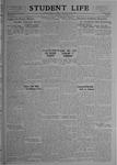 Student Life, November 14, 1919, Vol. 18, No. 8
