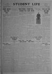 Student Life, December 19, 1919, Vol. 18, No. 12