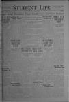 Student Life, October 22, 1920, Vol. 19, No. 6