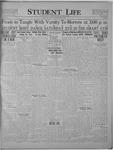 Student Life, September 23, 1921, Vol. 20, No. 2