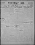 Student Life, November 4, 1921, Vol. 20, No. 8
