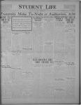 Student Life, December 16, 1921, Vol. 20, No. 13