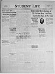 Student Life, October 1, 1924, Vol. 23, No. 1