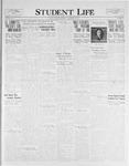 Student Life, November 18, 1925, Vol. 24, No. 8