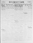 Student Life, November 25, 1925, Vol. 24, No. 9