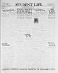 Student Life, March 24, 1926, Vol. 24, No. 22