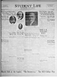 Student Life, March 9, 1925, Vol. 23, No. 21